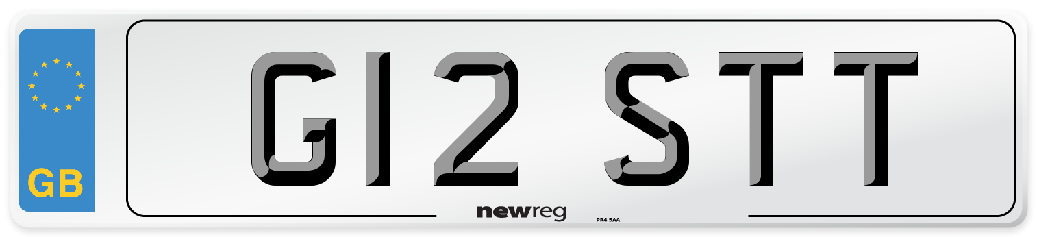 G12 STT Number Plate from New Reg